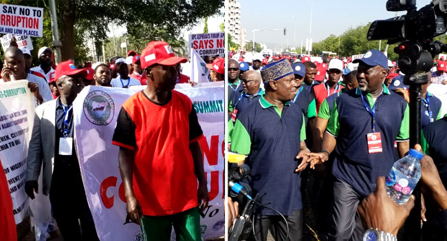 PHOTOS: Magu, Sylva Lead As EFCC Walks Against Corruption Across Nigeria