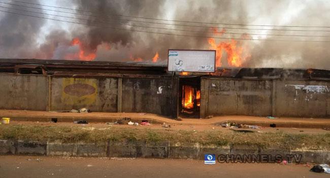 Fire Engulfs Ekiosa Market, Edo Development Agency Building