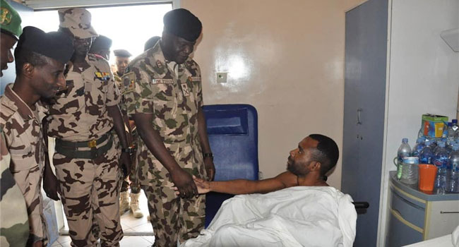Counterinsurgency: Force Commander Visits Soldiers In Hospital