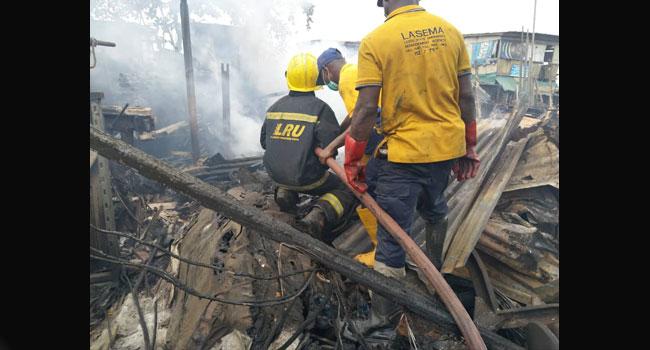 Fire Guts Owode Onirin Market In Ikorodu