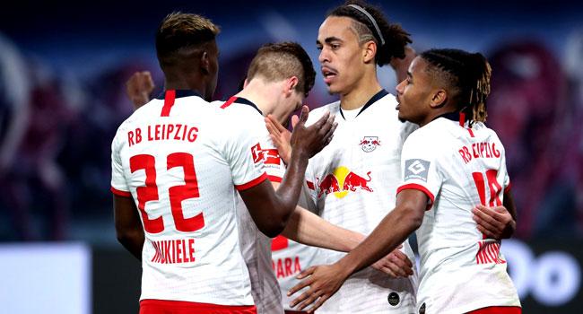 Leipzig Fight Back To Lead Bundesliga