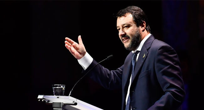 Italy's Salvini Faces Probe Over Use Of Service Planes
