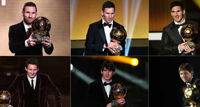Lionel Messi Wins Ballon D'or For Sixth Time