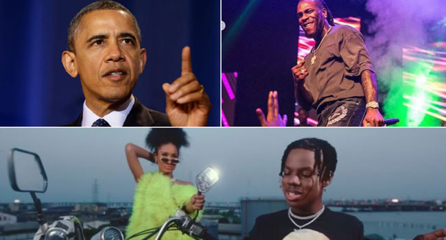 Burna Boy, Rema Make Obama's Favourite Music List For 2019