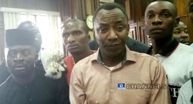 VIDEO: Sowore Accuses DSS Of Trying To Assassinate Him