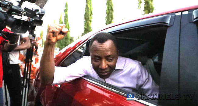 VIDEO: Sowore Thanks Nigerians, Says Nobody Can Take Them For Granted