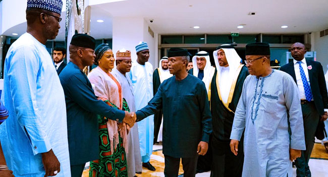 PHOTO: Osinbajo Travels To UAE For Peace Forum