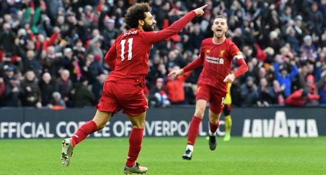 Salah Double-Fires Liverpool Into Premier League Victory