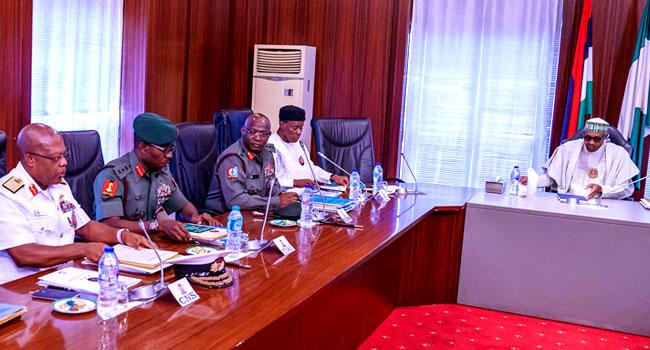 Security Chiefs Brief Buhari, Buratai Absent
