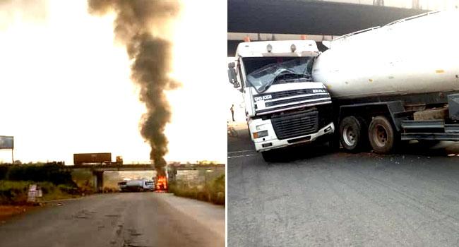 Twin Tanker Explosion Forces Closure Of Sagamu Interchange Bridge