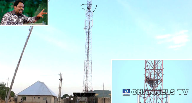 Man Climbs Mast To Commit Suicide, Seeks TB Joshua's Intervention