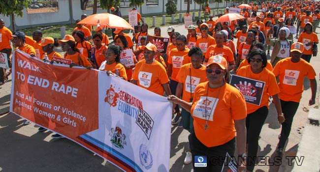 PHOTOS: Women Affairs Minister Leads Campaign Against Violence, Rape