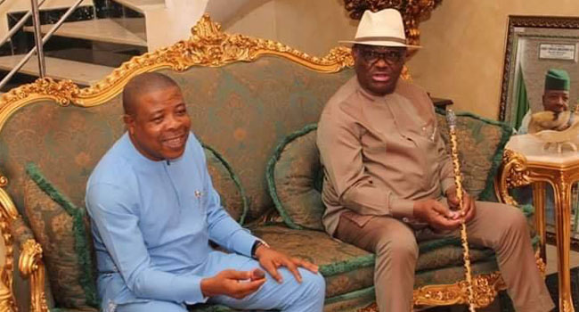 PHOTOS: Wike Visits Governor Emeka Ihedioha