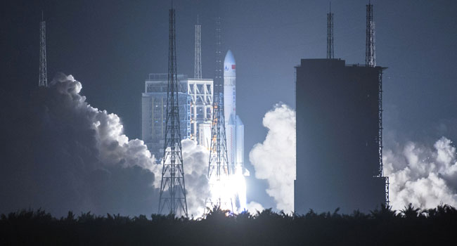 China launches powerful rocket