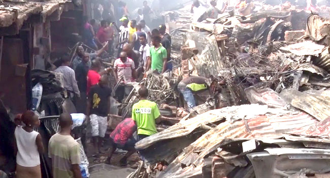 PHOTOS: Tears As Fire Razes Over 400 Shops In Anambra Market