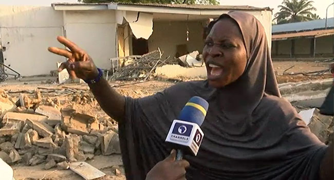 VIDEO: Woman Angrily Reacts To Demolition Of Saraki's Family Home