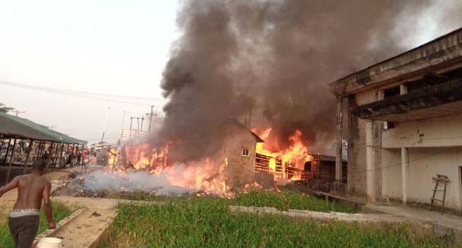 Fire Rages Through Bayelsa Community