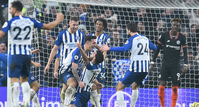 Brighton Deny Chelsea Vital Win In New Year Fixture