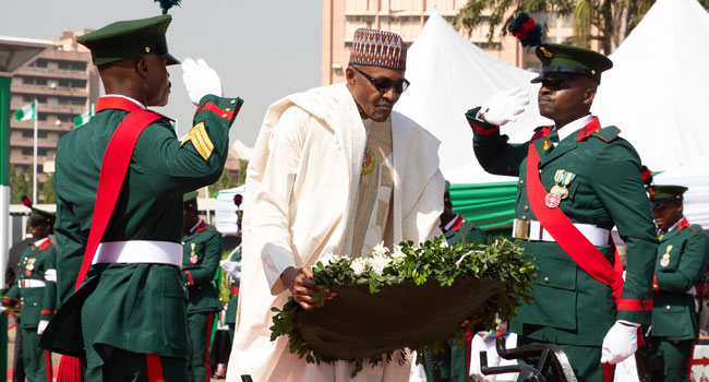 Buhari, Osinbajo, Others Honour Fallen Heroes On Armed Forces Remembrance Day