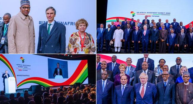 PHOTOS: Buhari Participates In Opening Plenary Session Of UK-Africa Summit