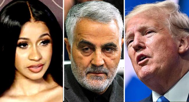 Soleimani's Killing: Cardi B Slams Trump, Plans To Become A Nigerian