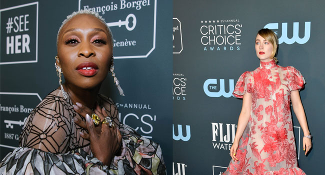 Oscars: Cynthia Erivo, Saoirse Ronan Nominated For Best Supporting Actress