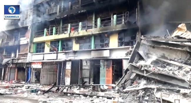 Seven Buildings Affected As Fire Guts Section Of Balogun Market