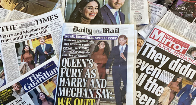 Harry, Meghan Face Criticism After Royal Crisis Summit