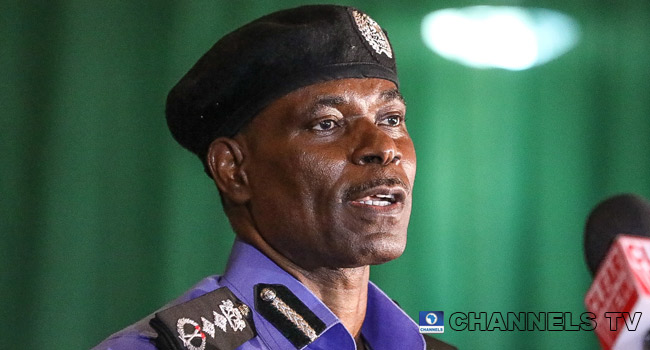 A file photo of IGP Mohammed Adamu. PHOTO: Channels TV/ Sodiq Adelakun