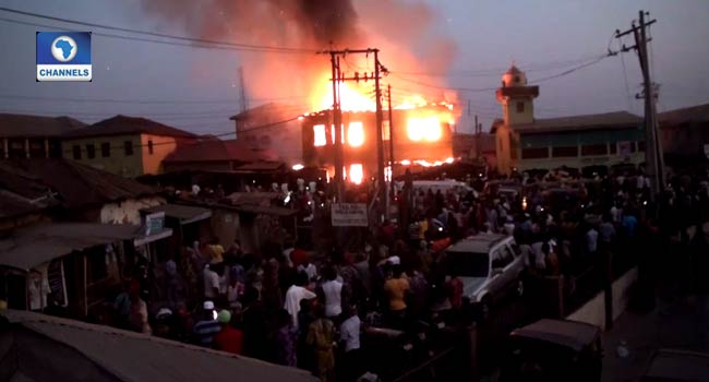 Properties Destroyed As Fire Razes Furniture Company In Ibadan
