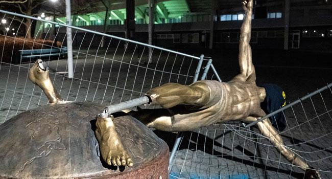 Again Vandals Destroy Ibrahimovic's Statue In Sweden