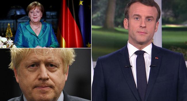 Merkel, Macron, Johnson Agree To Work Towards 'Reducing Tensions' In Mideast