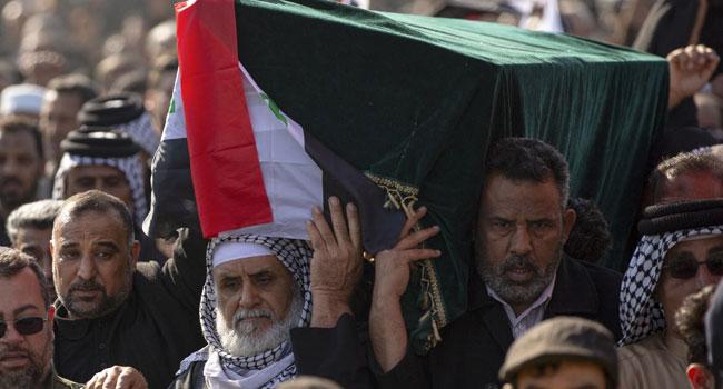 'Revenge, Revenge': Black-Clad Iranians Mourn General Killed By US