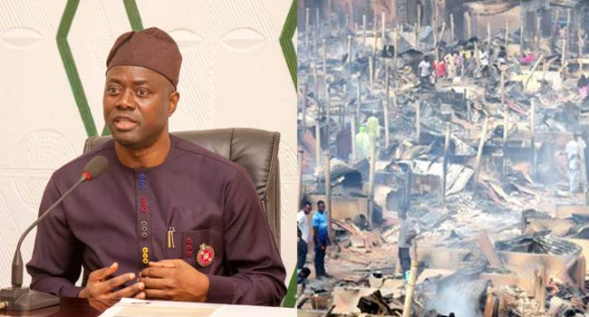 Oyo Fire: Makinde Commiserates With Victims, Vows To Acquire Modern Fire-Fighting Equipment