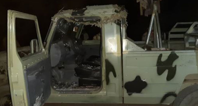 PHOTOS:  Four Terrorists Killed, Gun Truck And Weapons Recovered In Michika Attack