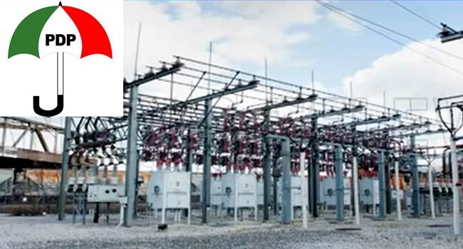 PDP Rejects Hike In Electricity Tariffs, Asks FG To Rescind 'Obnoxious Policy'
