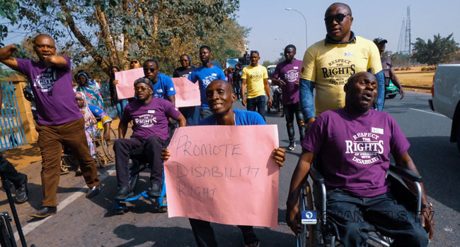 PHOTOS: People Living With Disability Protest Against Discrimination