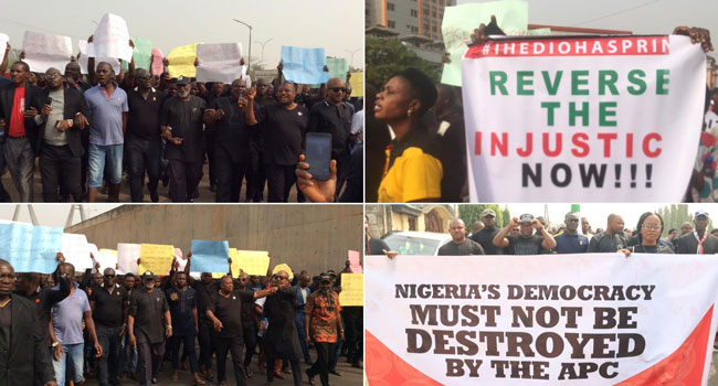 'Reverse This Injustice Now' – PDP Members Troop To Streets Across Nigeria