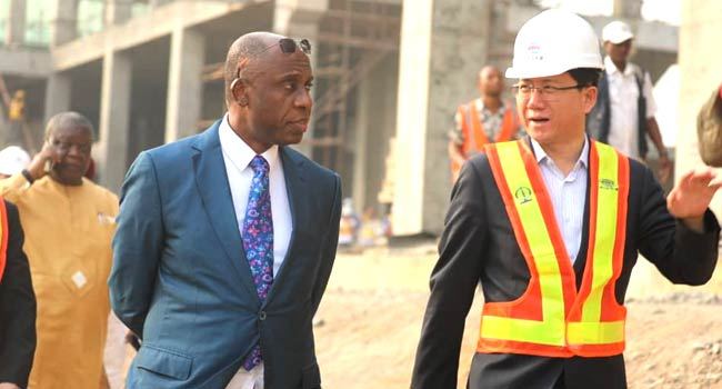 Again, Amaechi Inspects Lagos-Ibadan Rail Line Says, 'I'm Unhappy With Pace Of Work'