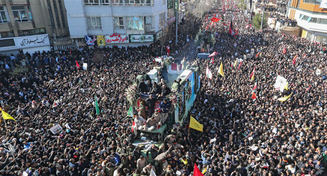Iranians Flock To Soleimani's Hometown For Burial