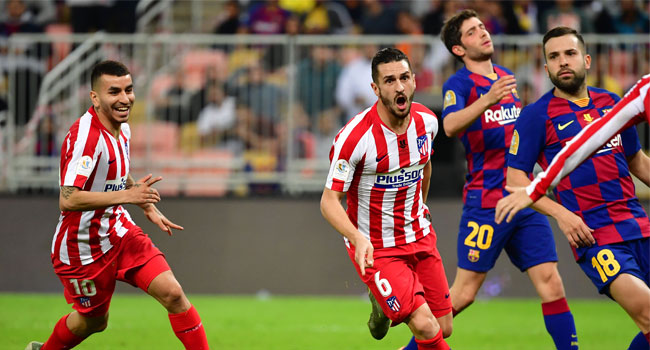 Spanish Super Cup: Atletico Madrid Shock Barcelona To Reach Final