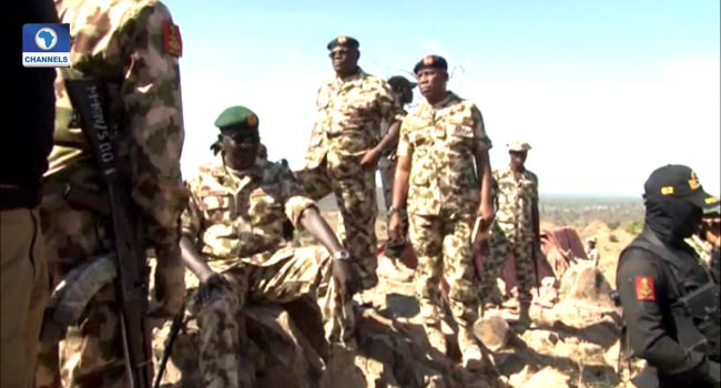 VIDEO: Buratai Dares Insurgents, Climbs 'Dreaded' Gwoza Hills In Borno