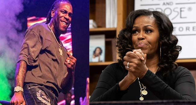 Burna Boy's Song Makes Michelle Obama's Playlist For 2020