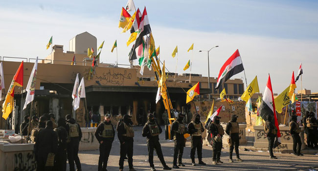 Iraq's Pro-Iran Hashed Orders Pullback From US Embassy