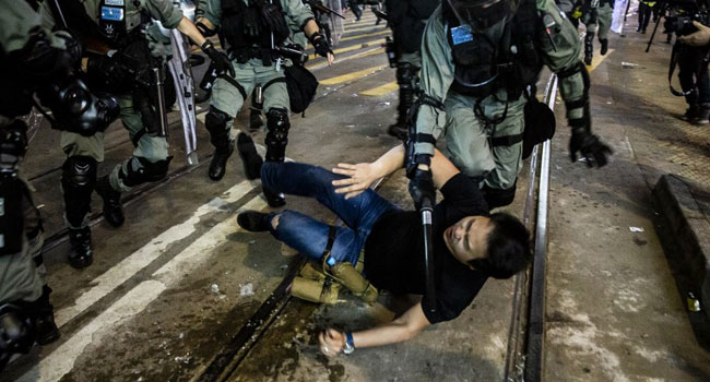 Police, Protesters Clash During Huge Hong Kong Pro-Democracy Rally