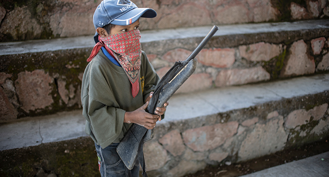 Mexican Children take Up Arms In Fight Against Drug-Gangs