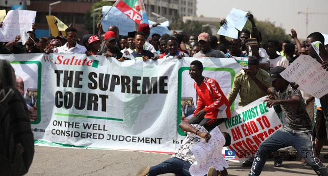 Imo Election: APC Protesters Say Supreme Court Decision Is Final
