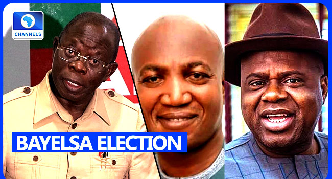 VIDEO: 'There Will Be No Govt In Bayelsa From Friday', Oshiomhole Rejects Verdict Which Sacked David Lyon
