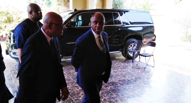 PHOTOS: Amaechi Arrives In Abia For Foundation Laying Of Transport Institute