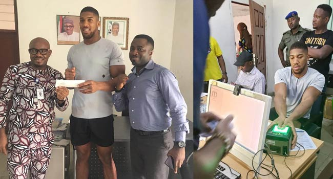 TRENDING: Anthony Joshua Applies For Nigeria's National ID Card